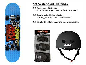 Set JUNIOR Skateboard RAP MUSIC Skatemax +