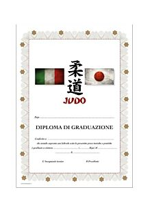 DIPLOMA JUDO PERSONALIZZATO GRADUAZIONE, SET 10 PEZZI, ORIENTE SPORT, OS820