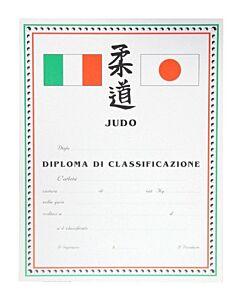 DIPLOMA JUDO PERSONALIZZATO CLASSIFICAZIONE, SET 10 PEZZI, ORIENTE SPORT, OS821