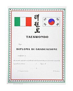 DIPLOMA TAEKWONDO PERSONALIZZATO GRADUAZIONE, SET 10 PEZZI, ORIENTE SPORT, OS822