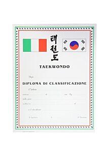 DIPLOMA TAEKWONDO PERSONALIZZATO CLASSIFICAZIONE, SET 10 PEZZI, ORIENTE SPORT, OS823