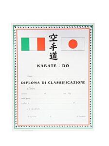 DIPLOMA KARATE CLASSIFICAZIONE, SET 10 PEZZI, ORIENTE SPORT, OS825
