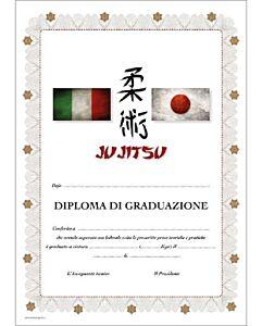 DIPLOMA JU JITSU GRADUAZIONE, SET 10 PEZZI, ORIENTE SPORT, OS826