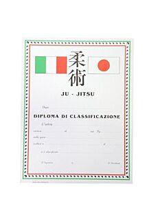DIPLOMA JU JITSU CLASSIFICAZIONE, SET 10 PEZZI, ORIENTE SPORT, OS827
