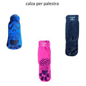 CALZA TECNICA ANTISCIVOLO PER PALESTRA, ANTIBATTERICA, BRIZZA, BR0612, UNISEX