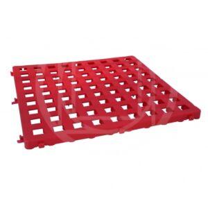 GRATICCIO COMPONIBILE IN PLASTICA, COLORE ROSSO, 50x50 cm, ARTISPORT, ARS883/R