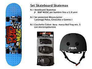 Set JUNIOR Skateboard RAP MUSIC Skatemax +