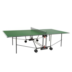 TAVOLO PING PONG PROGRESS INDOOR con ruote, PIANO VERDE, GARLANDO, GAC162I