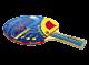 RACCHETTA PER PING PONG HURRICANE, 6 STELLE, approvata ITTF, GARLANDO, GA2C41118