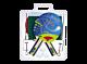 SET PER PING PONG STORM PLUS, 2 racchette approvate ITTF + 3 palline + rete e tendirete, GARLANDO, GA2C455